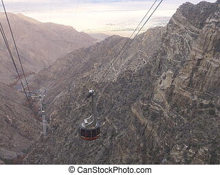 Palm Springs from Aerial Tramway - View of Palm Springs from...
