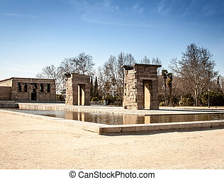 Temple of Debod madrid - Temple of Debod in a park in madrid...