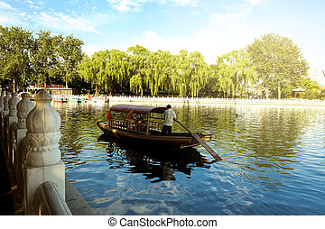 Houhai Lake, Beijing, China - The famous Houhai Lake in the...