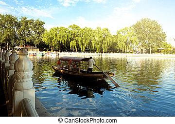 Houhai Lake, Beijing, China - The famous Houhai Lake in the...