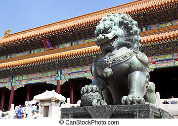 Beijing, Forbidden City - Beautiful view of the Forbidden...