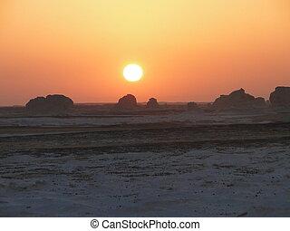 White desert en Egipt