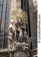 Statue of St Francis, Stephansdom - Statue of St Francis,...