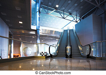 Escalators in exhibition centre