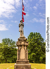 Confederate Statue - Statue of a Confederate soldier at...