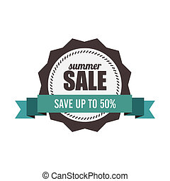big sale label - abstract big sale label on a white...