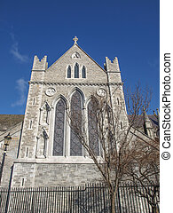Christ Church Dublin ancient gothic cathedral architecture