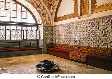 Inside the harem in Topkapi, Istanbul - Beautiful interior...
