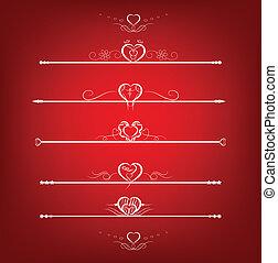 Set Valentine's Day Design Element