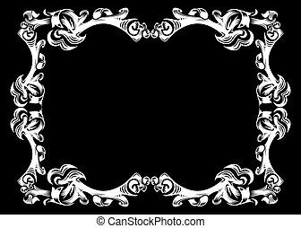 Abstract frame - Illustration of abstract frame in white...