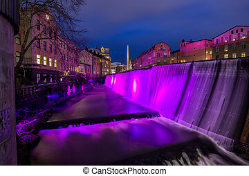 New Year's Eve in Sweden - The waterfall in the famous...