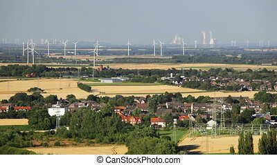 West German Energy Landscape - Flat west German landscape...