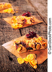 Cookies on the table - Cranberry and corn flakes...