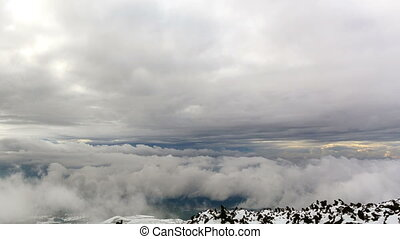 Between clouds. Time Lapse. 4K - Between clouds. Time Lapse....