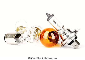 Spare car bulbs