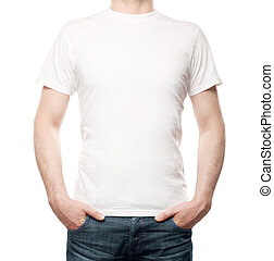 guy in T-shirt on a white background