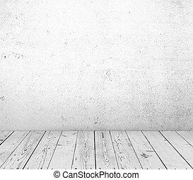 Trä, konkret, vägg, golv