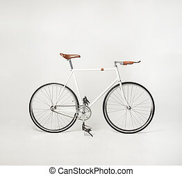 hipster bicycle on white, fixed gear