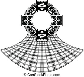 stencil of scottish celtic ring