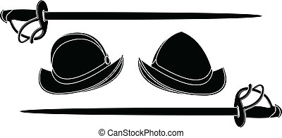 spanish helmets. stencil