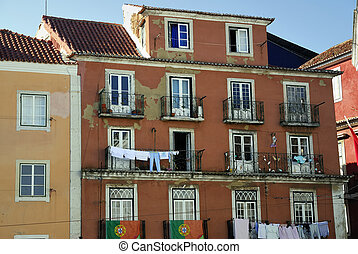 Old typical building in Lisboa (Portugal).