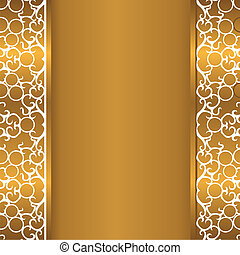 gold background with curves