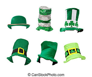 Assortment of St Patricks Day Hats - Six St. Patrick's Day...
