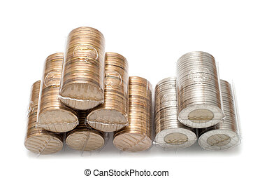 One and two dollars Canadian coins - Lot of One and two...