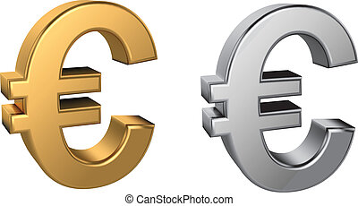 Euro sign - CMYK vector illustration - created with gradient...