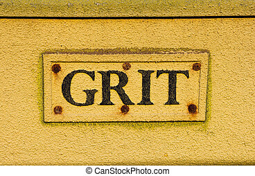 Grit container extreme closeup - An extreme closeup to the...