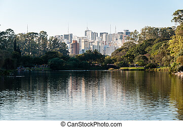 Ibirapuera Park - Sao Paulo - Ibirapuera Park with a view of...