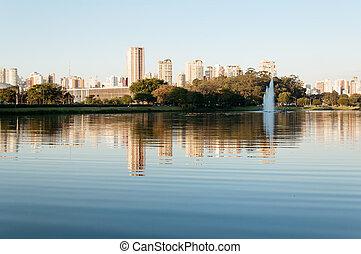 Ibirapuera Park - Sao Paulo - Ibirapuera Park overlooking...