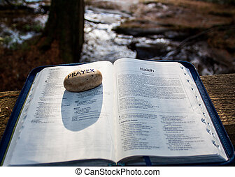spiritual book opened to a page - a spiritual book opened to...
