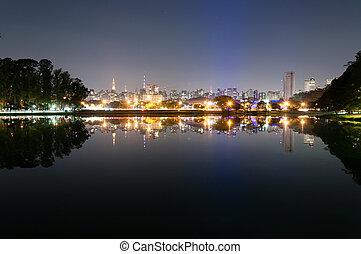 Ibirapuera Park - Sao Paulo - Night view of the city Sao...