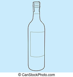 wine bottle outline vector - image of wine bottle vector...
