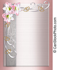 Wedding Invitation Border Satin