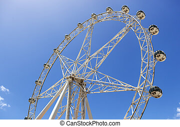 Ferris Wheel - Observation or ferris wheel, against...