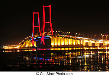 suramdu - Suramadu bridge that conecting Surabaya City Java...