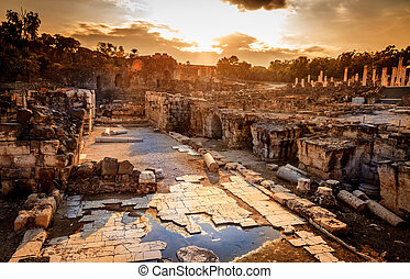 Beit She'an - Ancient city of Beit She'an in Israel