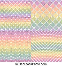 seamless geometric wave pattern
