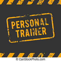 Personal trainer rubber stamp - Rubber stamp with the text...