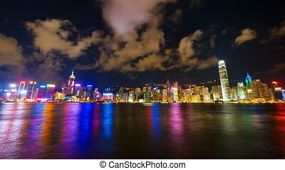 4k 4096x2304 timelapse, Hong Kong show Symphony of Lights