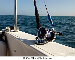 Big game fishing reels and rods