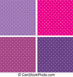 Vector dots bakground set - Vector sweet seamless patterns...