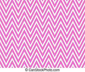 Thin Bright Pink and White Horizontal Chevron Striped...