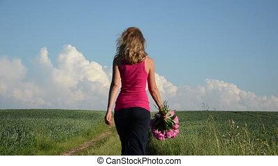 girl flower summer