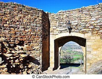 Door of old castle, Monsaraz,Portugal