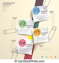 abstract flow chart infographics - hand draw style vector...