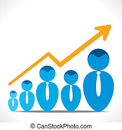 business growth graph - businessmen business growth graph...