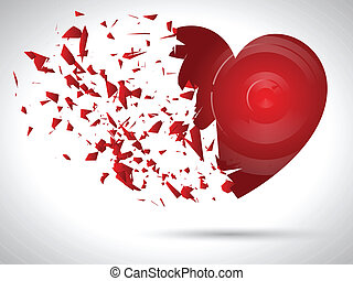 Exploding heart background for Valentines Day